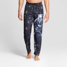 Men s Marvel Black Panther Pajama Pants - Black S  Black 6d8ed9827