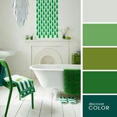 A bathroom in green