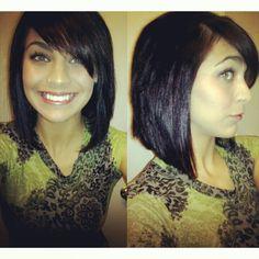 My angled bob hair cut :)