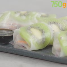 Raw vegetables spring roll, Adour PGI kiwi and shrimps – Car stickers Raw Food Recipes, Chicken Recipes, Cooking Recipes, Healthy Recipes, Cheap Meals, Easy Meals, Shrimp Spring Rolls, Vegetable Spring Rolls, Peanut Dipping Sauces