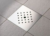 Shower drain box grate / stainless steel