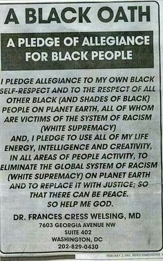 ..A Black Oath #whitesupremacymustgo