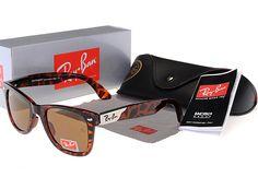 Ray Ban Wayfarer Leopard Grain With Golden L Sunglasses