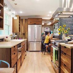 Hickory Galley Kitchen Design