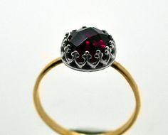 Handmade Ruby Ring, 14K Gold Fill Ring, Red Gemstone Engagement Ring, Ruby Wedding Ring
