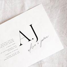 Wedding invitation via @paigetuzee_designs