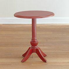 Red Lisbon Pedestal Table | Living Room Furniture| Furniture | World Market