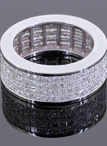 Rafaello & Co Eternity Wedding Band with White Diamonds in White Gold