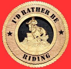 Female Barrel Racer Horse - I'd Rather Be Riding