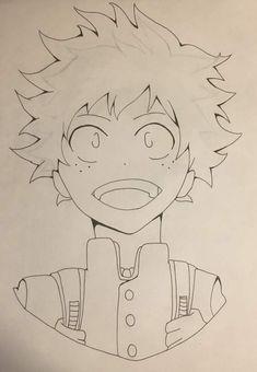 My hero academia: deku drawing process anime amino. Anime Drawings Sketches, Cool Art Drawings, Anime Sketch, Easy Drawings, Boy Drawing, Anime Character Drawing, Cartoon Art Styles, Drawing Process, Hero
