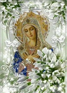 Mary Jesus Mother, Mother Mary Images, Images Of Mary, Blessed Mother Mary, Mary And Jesus, Blessed Virgin Mary, Christian Drawings, Christian Artwork, Religious Icons
