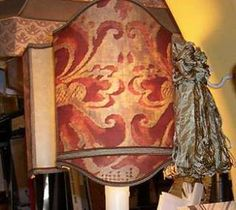 Old World Small Red Fortuny Lampshade ~~~~SOLD — at STUDIO VENETO.