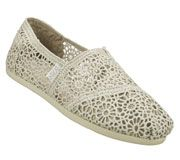 SKECHERS Women's Bobs Plush Casual Flats. Not as comfy as the Clarks unstructured line, but this type of shoe -- so far so good