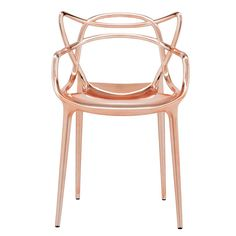 Add award winning design to your home with the Masters Chair from Kartell. Designed by Philippe Starck with Eugeni Quitllet this chair is a striking tribute to three iconic chairs Metal Chairs, Patio Chairs, Dining Room Chairs, Outdoor Chairs, Furniture Chairs, Gold Furniture, Copper Chairs, Outdoor Armchair, Arm Chairs