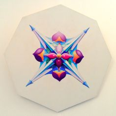 Specula 2, 2010, olio e acrilico su tavola, 80x80 cm - Ignazio Mazzeo #art #artobject #ignaziomazzeo