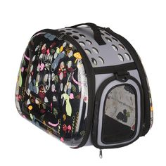 Stylish Folding Pet Carrier Portable Comfort Soft Travel Bag For Cats Transparency Cartoon Print Tote Bag for Dog Cat Small Animal -- Want additional info? Click on the image. (This is an affiliate link and I receive a commission for the sales)