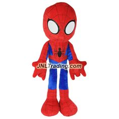 Just Play Year 2016 Marvel SpiderMan Adventure Series 34 Inch Tall Plush Figure : SPIDER-MAN