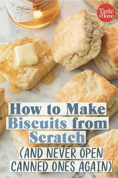How to Make Biscuits from Scratch (and Never Open Canned Ones Again) - Brot, Brötchen und Gebäck - Desserts Breakfast Recipes, Dessert Recipes, Breakfast Biscuits, Breakfast Casserole, How To Make Biscuits, Homemade Biscuits And Gravy, Quick Biscuits, Making Biscuits, Biscuit Bread