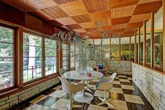 Lately the time capsule houses have been flying in at warp speed. Today's feature — this luscious1960 ranch home — updated in the 1970s — in Tulsa, Oklahoma,that's loaded with eye popping original features. In the sunroom alone you'll find the original checkerboard floors and Weldtexceilings, built-in stone planters and gorgeous wall murals. From the …