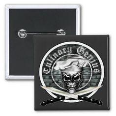 Skull Chef Button