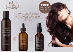 New from John Masters Organics: Scalp & Hair Renewal System, plus a FREE Deep Scalp Follicle Treatment worth £21!  https://www.lovelula.com/products/john-masters-organics-scalp-and-hair-renewal-system-with-free-follicle-treatment