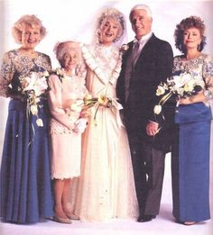 Dorothy Zbornak and Lucas Hollingsworth, 1992 The Golden Girls #Wedding