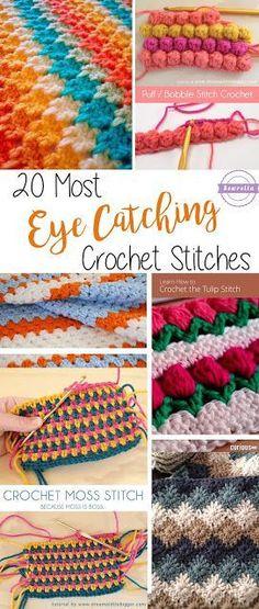 20 Most Eye Catching Crochet Stitches | Roundup from Sewrella: