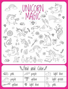 Unicorn Games Activities and Puzzles - AWESOME fun packet for birthday parties, rainy days and indoor play! Just print and get your Unicorn party started.