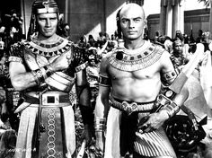 Charlton Heston and Yul Brynner in The Ten Commandments, 1956