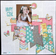Beautiful layout using our Simple Stories Vintage Bliss collection, shared with us on Facebook by Michelle Arseneault Gallant - just got this paper