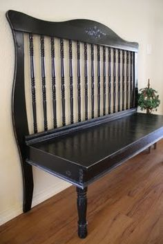 Turn a Crib into a Bench...such a neat idea!