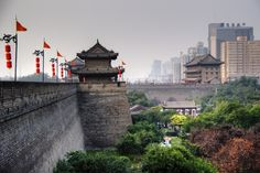 The old city wall of Xi'an (China)