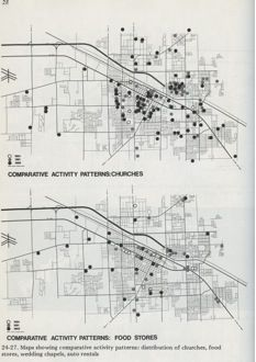 Maps from Learning from Las Vegas (1972), Robert Venturi and Denise Scott Brown