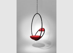 Hanging Hoop Chair Black Lifestyle 01