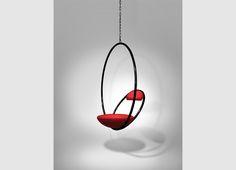 Hanging Hoop Chair Black Lifestyle 01
