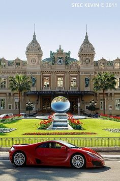 Monte Carlo casino (we drove by in a little tourist tram, not that snazzy red sports car!)   ot that snazzy red sports car!)