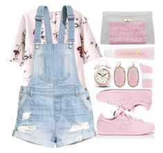 """Sem título #782"" by andreiasilva07 ❤ liked on Polyvore featuring H&M, adidas, Newgate, Johnstons, Kendra Scott and Lancôme"