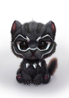 Mini black panther! Awww!!
