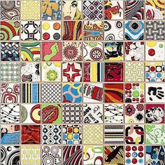 A fully coloured Pop Art-style ceramic mosaic with bas-relief composed of 64 squares, each completely different in the style of a comic strip. From the Dune range, this is the Andy Mosaic. Pop Art Decor, Wall Decor Design, Decoration, Tile Art, Wall Tiles, Tile Warehouse, Unique Tile, Ceramic Mosaic Tile, Feature Tiles