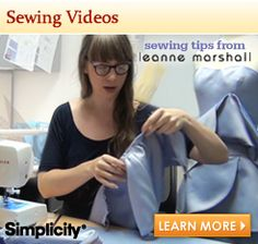 Simplicity video tutorials. From dresses to crochet to hair accesories