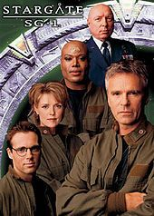 "Stargate SG-1.-   original starring cast  -Richard Dean Anderson ( ""Jack"" O'Neill)...Michael Shanks (Daniel Jackson)... Amanda Tapping (Samantha Carter)...Christopher Judge (Teal'c)...Don Daivis (Maj. Gen. George Hammond) MGM - Showtime - Sci-Fi Channel  -  1997-2007"