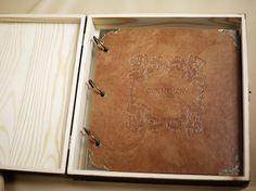 Personalizada corazón grabado foto álbum Scrapbooking por Bielyse