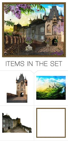 """castle contest"" by julissag ❤ liked on Polyvore featuring art"