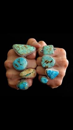 Any jewelry that's turquoise I love