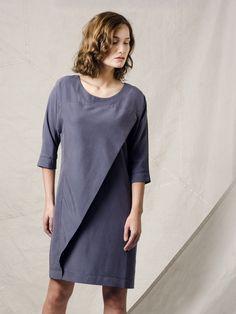 Blauwgrijze jurk