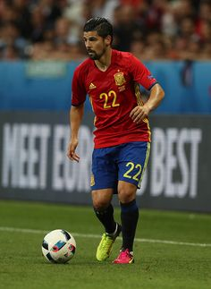 #EURO2016 Nolito of Spain controls the ball during the UEFA EURO 2016 Group D match between Spain and Turkey at Allianz Riviera Stadium on June 17 2016 in Nice...