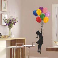 Balonlar ve Afacan Kız Çocuk Odası Duvar Sticker http://www.stickerdepo.com/