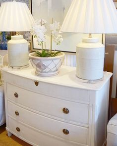 "Where ""wood"" you put this white dresser in your home? Shop our sale this month - enjoy 20-50% off all our wood furniture through May 26. Pictured: McLean shop"