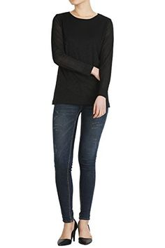 Hipsteration Womens Long Sleeve Solid Color Flower T-Shirts (HIPWT0010) Black, L Hipsteration http://www.amazon.com/dp/B01E82QVL2/ref=cm_sw_r_pi_dp_s8Udxb1C706YS