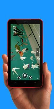 """Videos, games and more - on the Lumia 1320's 6"""" screen."""